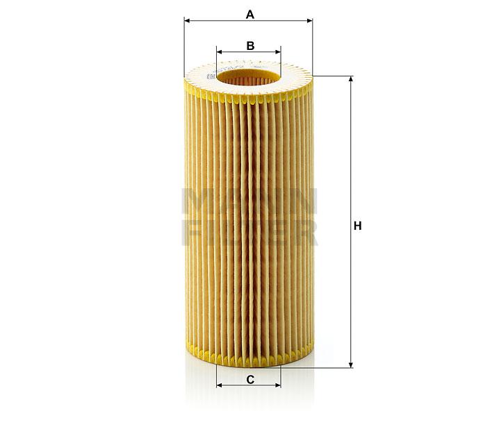 HU 721/2 x Flüssigkeitsfilterelement (metallfrei)