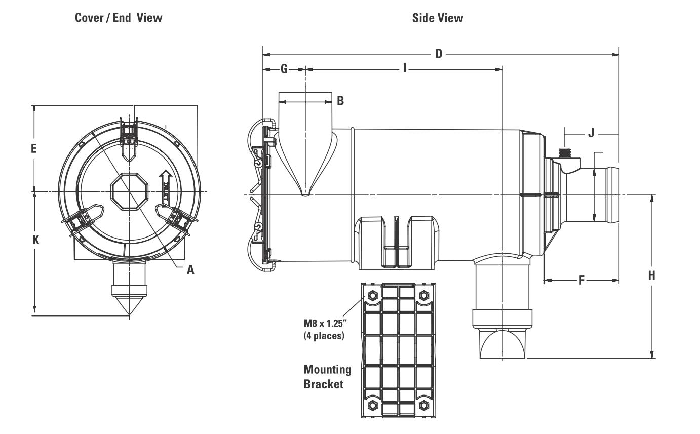 B080080 Luftfilter Cycloflow XRB