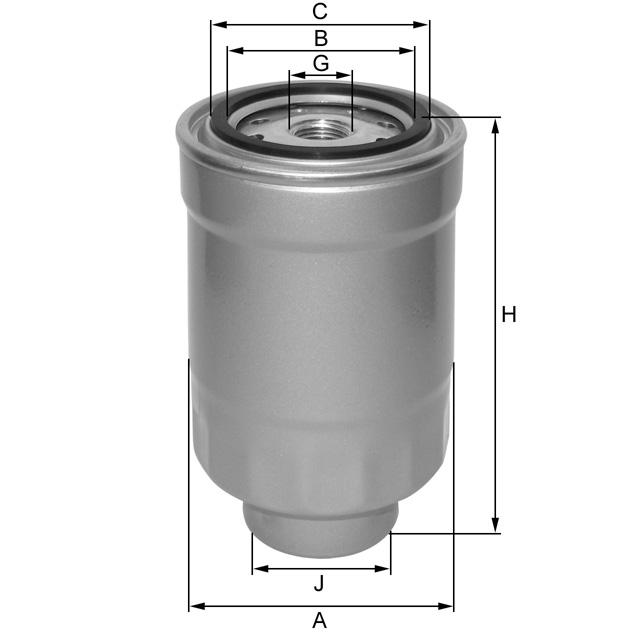 ZP548F Kraftstoffwechselfilter SpinOn