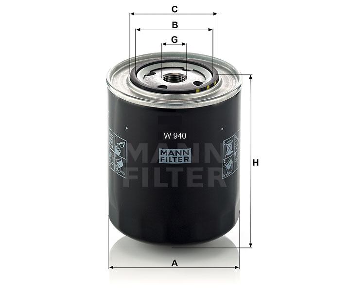 W 940 Ölfilter SpinOn