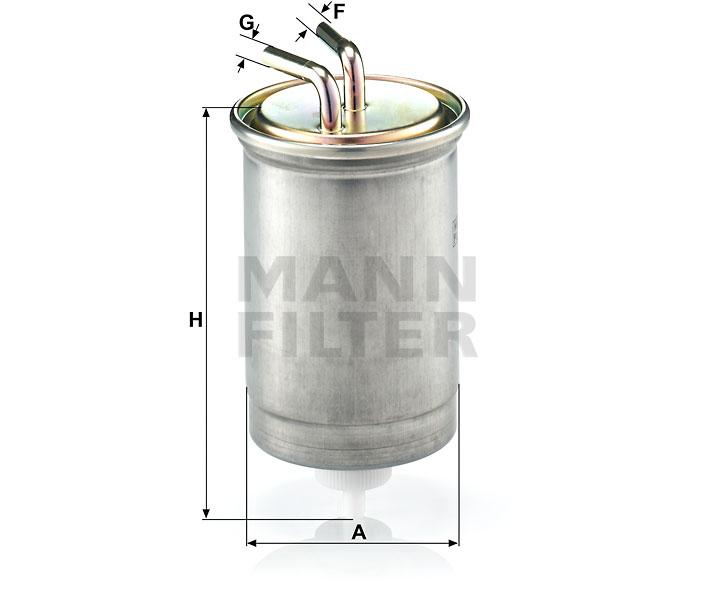 WK 845/3 Kraftstoff-Leitungsfilter (Inline)