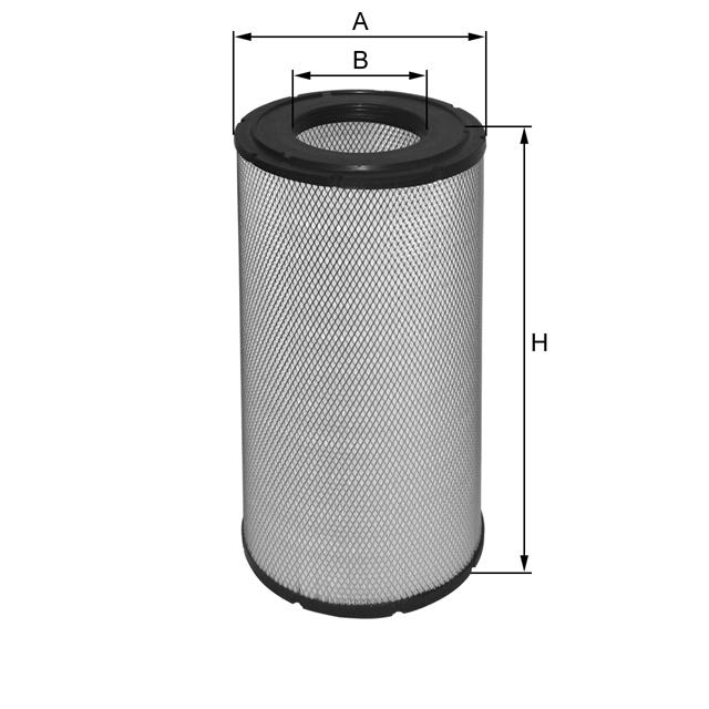 HP2544 Luftfilterelement