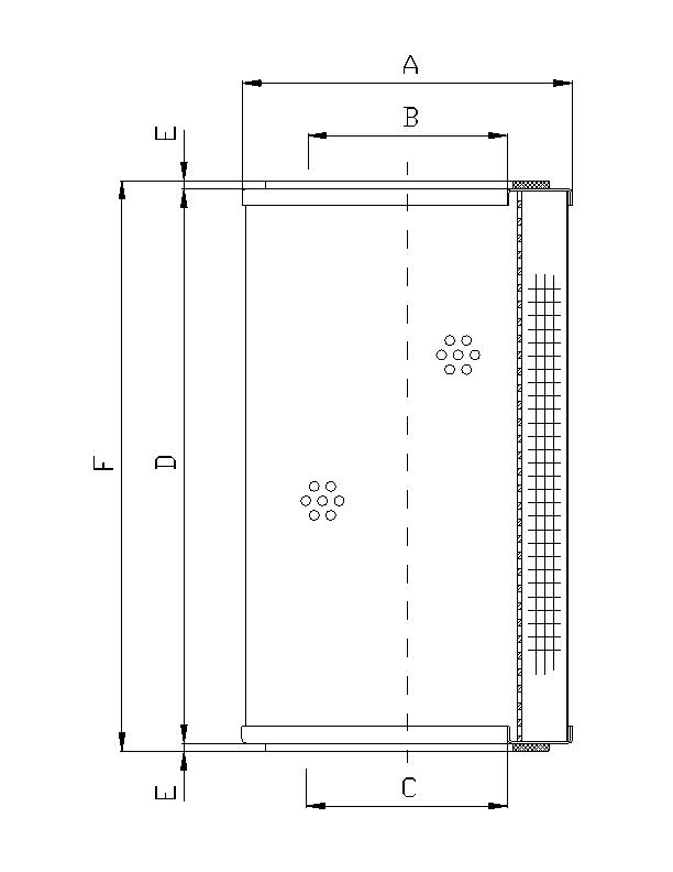 R320G03P Filterelement für Rücklauffilter