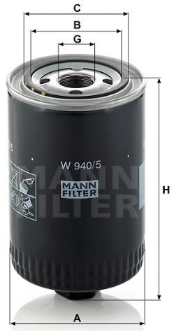 W 940/5 Wechselfilter SpinOn