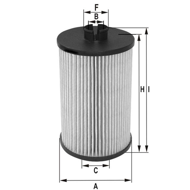 MLE1637 Ölfilterelement (metallfrei)