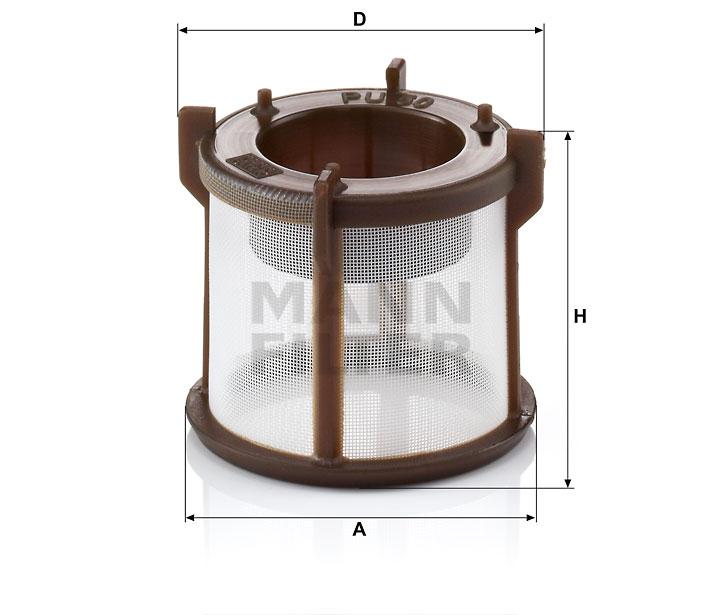 PU 50 z Kraftstofffilterelement (metallfrei)