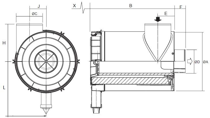 G100284 Luftfilter RadialSeal FRG