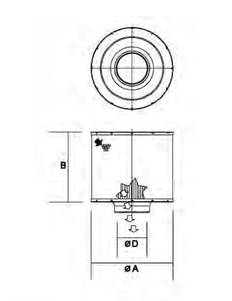 B105012 Luftfilter (DuraLite ECB)