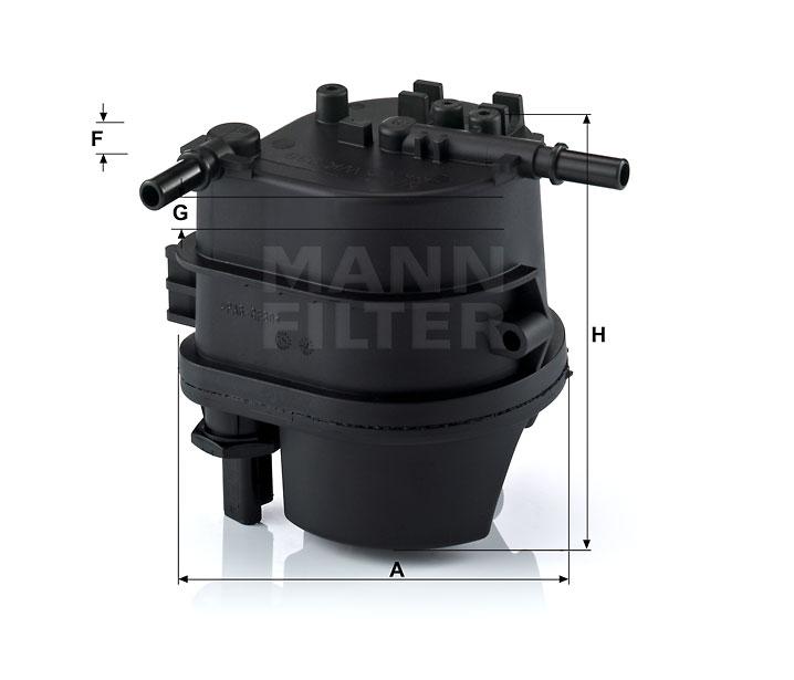 WK 939 Kraftstoff-Leitungsfilter (Inline)