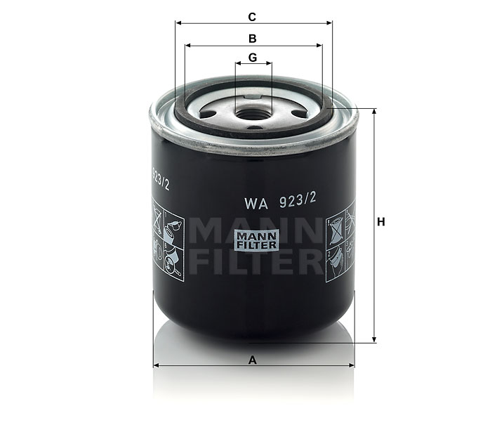 WA 923/2 Wechselfilter SpinOn (Kühlflüssigkeit)