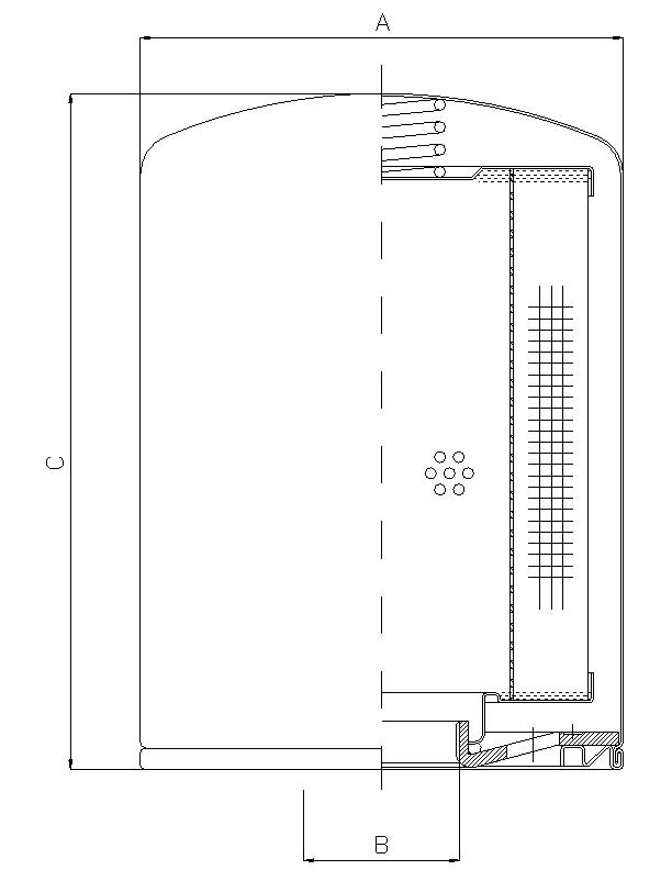 A310C03 Luftfilter SpinOn (Be- und Entlüftung)