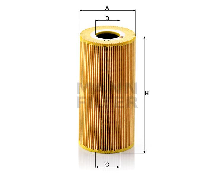 HU 848/1 x Flüssigkeitsfilterelement (metallfrei)