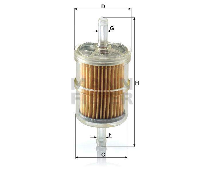 WK 42/2 Kraftstoff-Leitungsfilter (Inline)