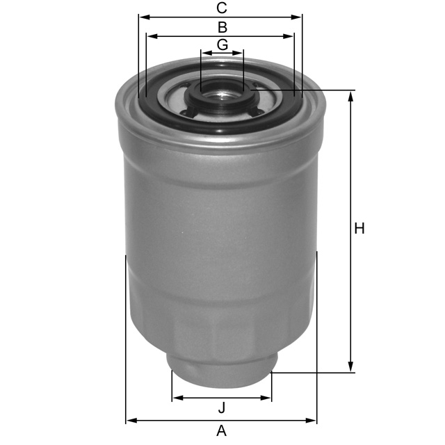 ZP3108FMB Kraftstoffwechselfilter SpinOn