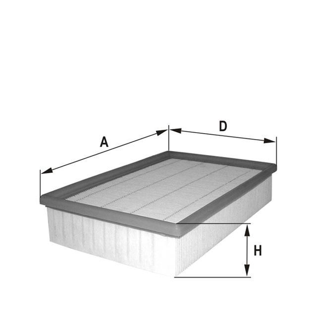 HP2228 Luftfilterelement (flach)