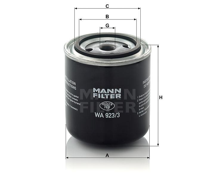 WA 923/3 Wechselfilter SpinOn (Kühlflüssigkeit)