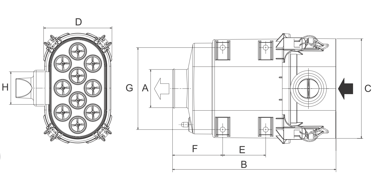 D080069 Luftfilter (PowerCore PSD)