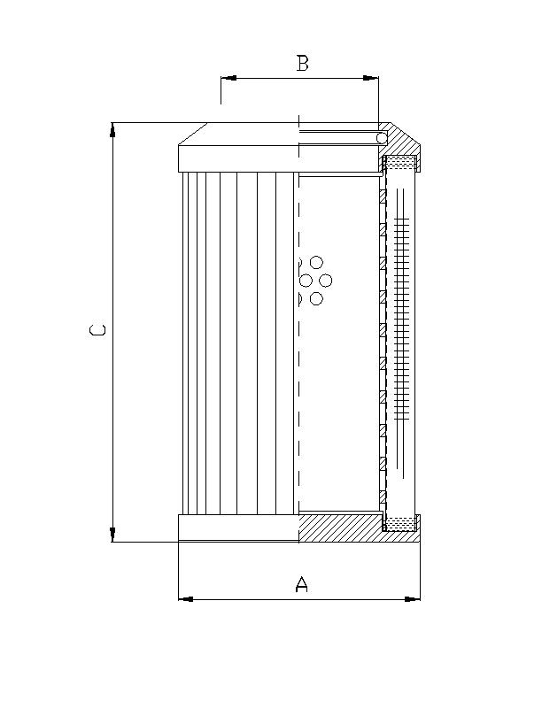 DMD149K20B Filterelement für Druckfilter