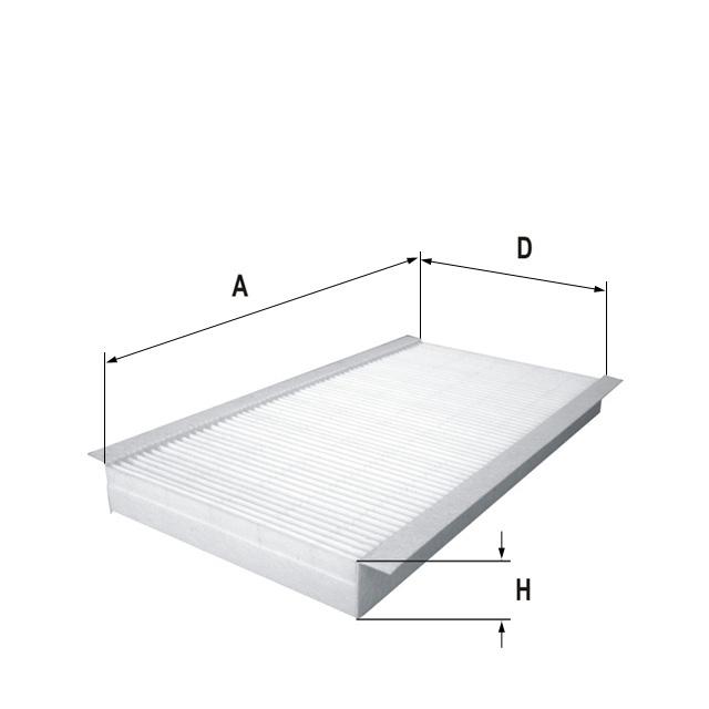 HCK7174-2 Innenraumfilterelement (Aktivkohle)