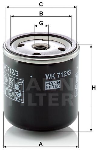 WK 712/3 Kraftstoffwechselfilter