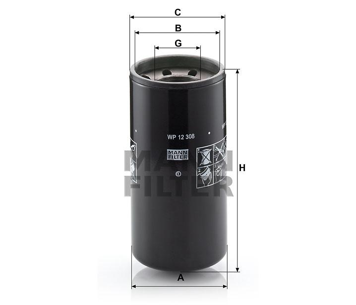 WP 12 308 Wechselfilter SpinOn (Nebenstrom)
