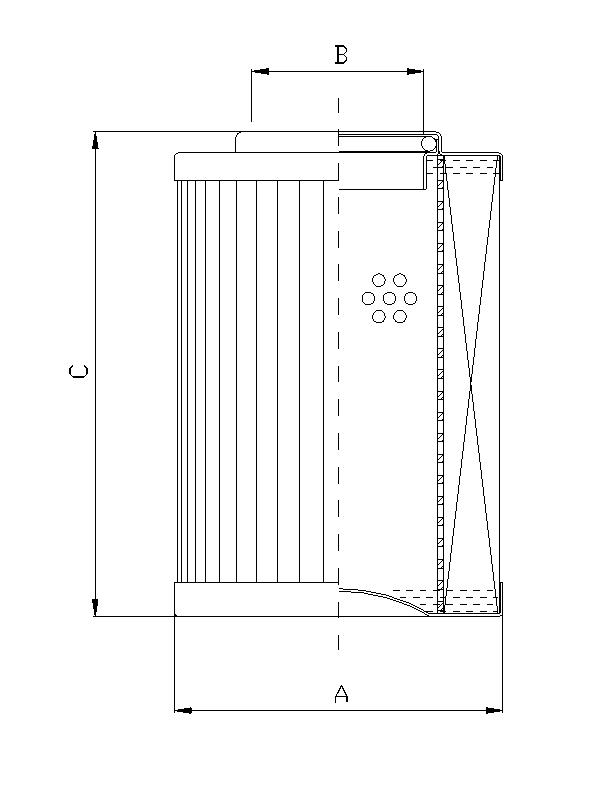 DVD2140E05B Filterelement für Druckfilter