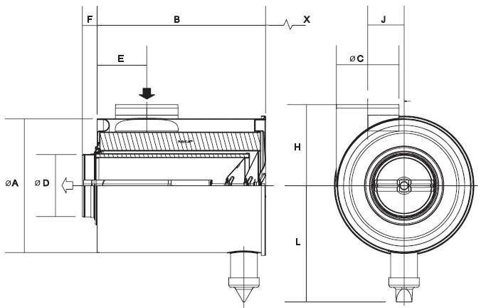G210010 Luftfilter Cycloflow FTG