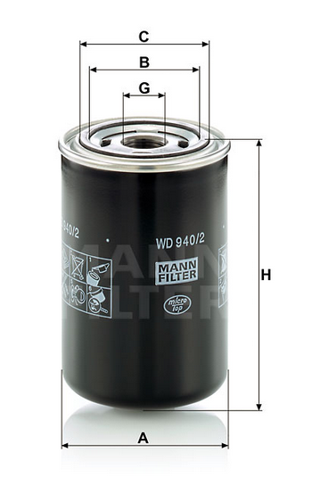 WD 940/2 Wechselfilter SpinOn