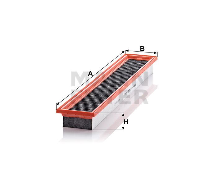 CUK 6046 Innenraumfilterelement (Aktivkohle)