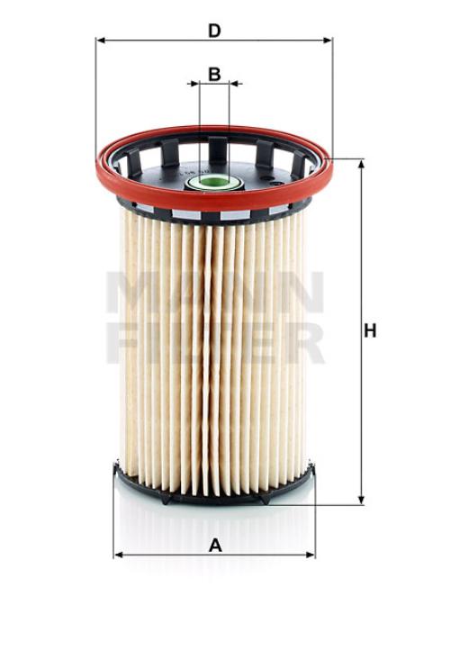 PU 8007 Kraftstofffilterelement (metallfrei)