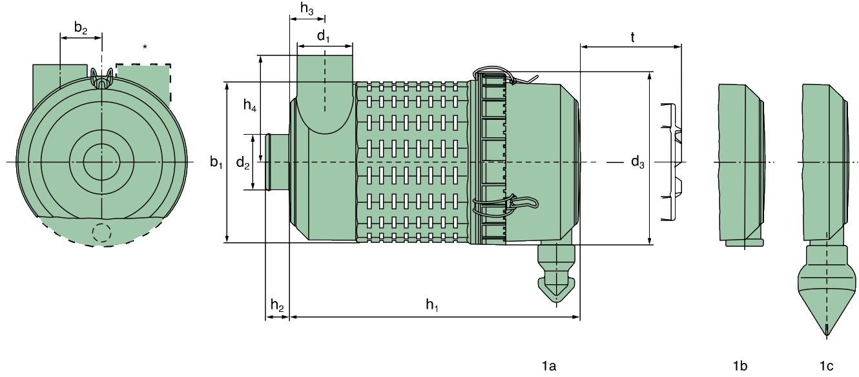 45 100 92 911 Luftfilter (Europiclon)
