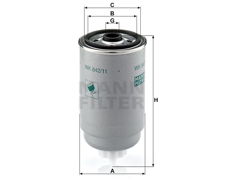 WK 842/11 Kraftstoffwechselfilter