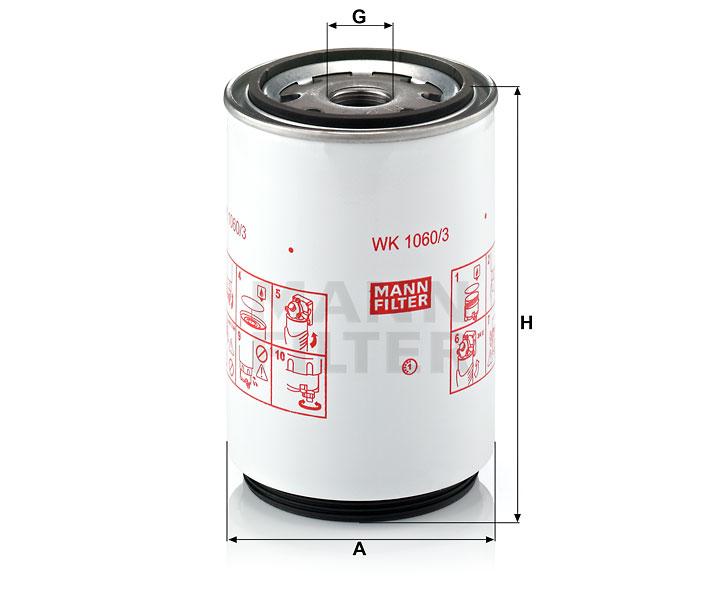 WK 1060/3 x Kraftstoffwechselfilter