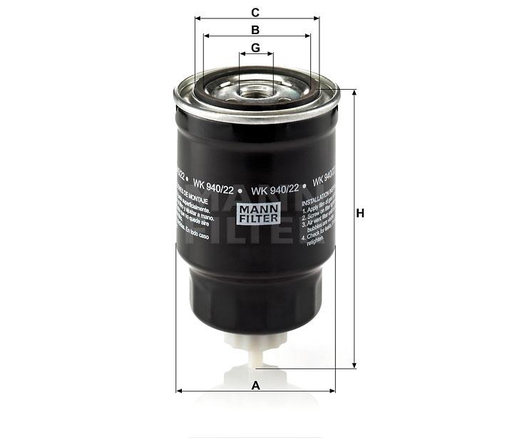 WK 940/22 Kraftstoffwechselfilter