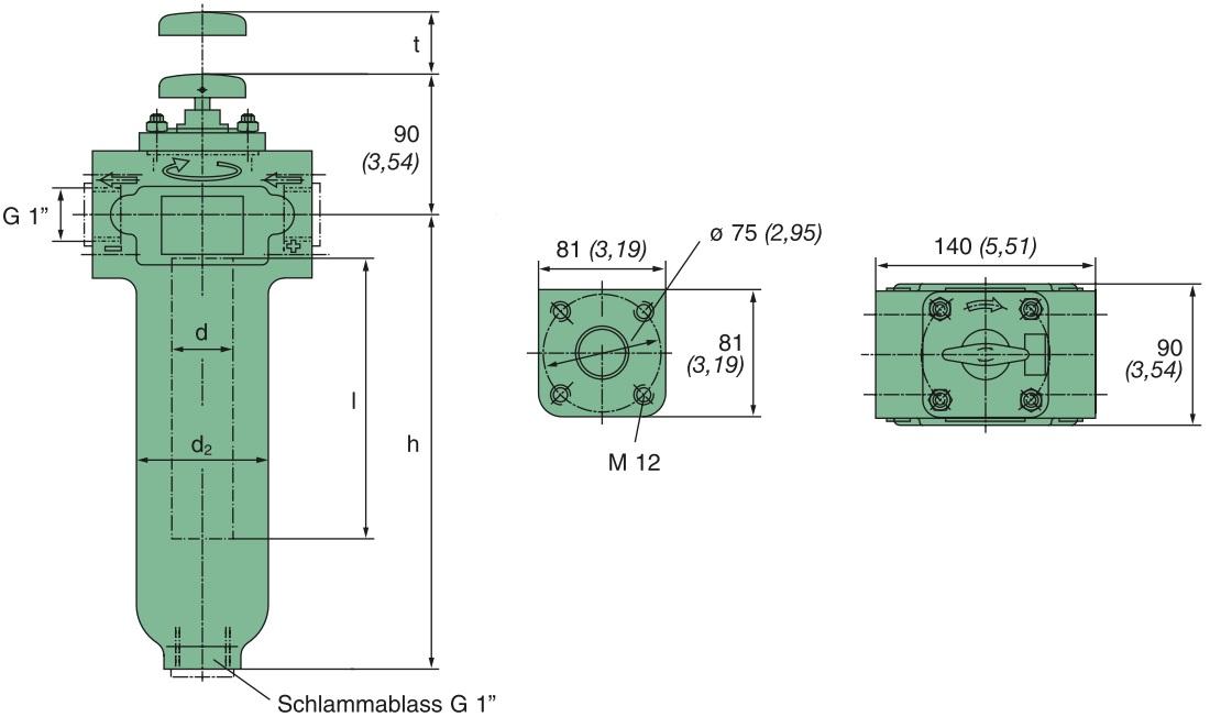 KMGW00001 Drahtspaltfilter, 0,05 mm Spaltweite