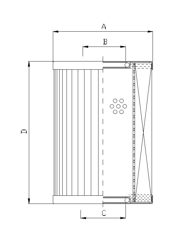 XR630G10 Filterelement für Rücklauffilter