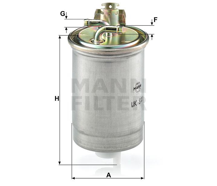 WK 841 Kraftstoff-Leitungsfilter (Inline)