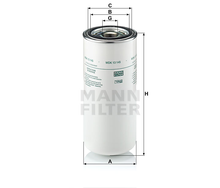 WDK 13 145 Kraftstoffwechselfilter