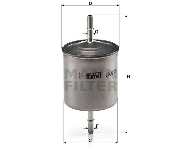 WK 832/2 Kraftstoff-Leitungsfilter (Inline)