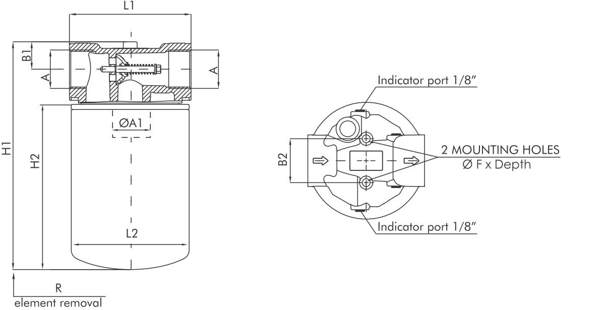 FA120G03B6RR1 Leitungsfilter (Rücklauffilter)