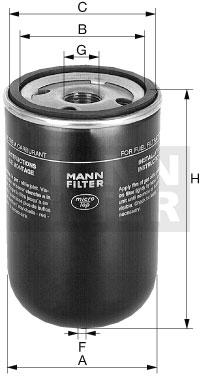 WK 723/3 Kraftstoffwechselfilter