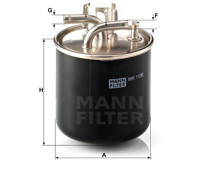 WK 1136 Kraftstoff-Leitungsfilter (Inline)