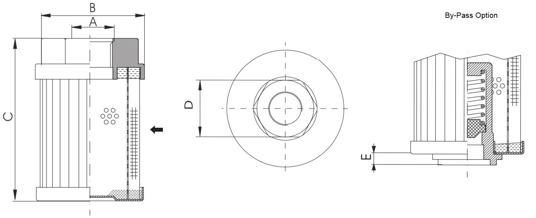 FS110B2T250 Saugfilter (Anschraubelement)