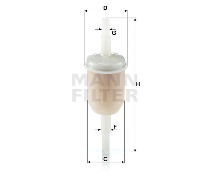 WK 31/2 Kraftstoff-Leitungsfilter (Inline)