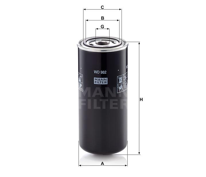 WD 962 Ölfilter SpinOn