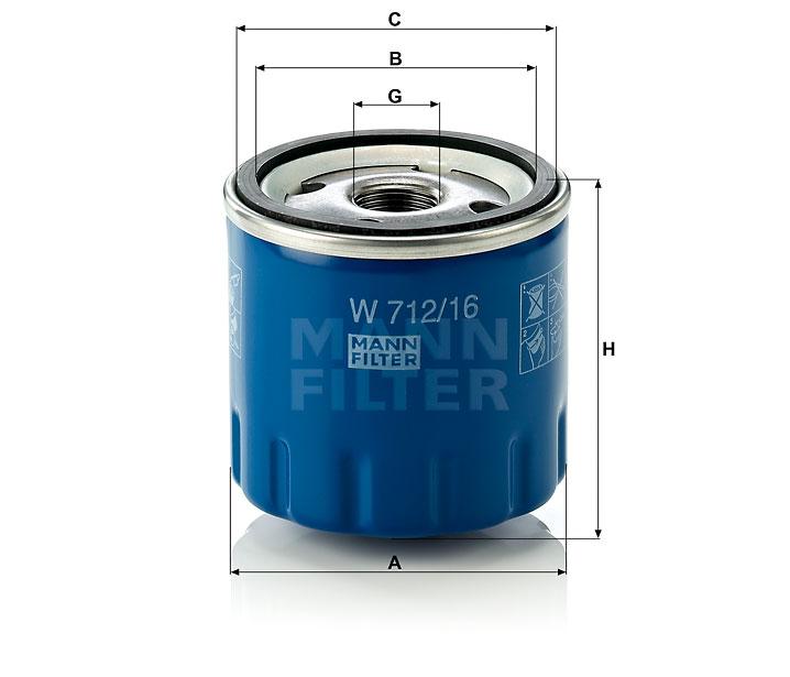 W 712/16 Wechselfilter SpinOn