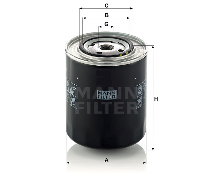 WD 950/2 Wechselfilter SpinOn