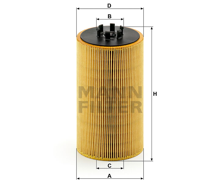 HU 13 125/3 x Ölfilterelement (metallfrei)