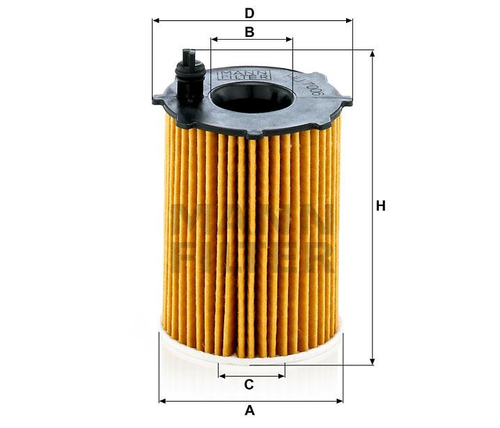 HU 7006 z Flüssigkeitsfilterelement (metallfrei)