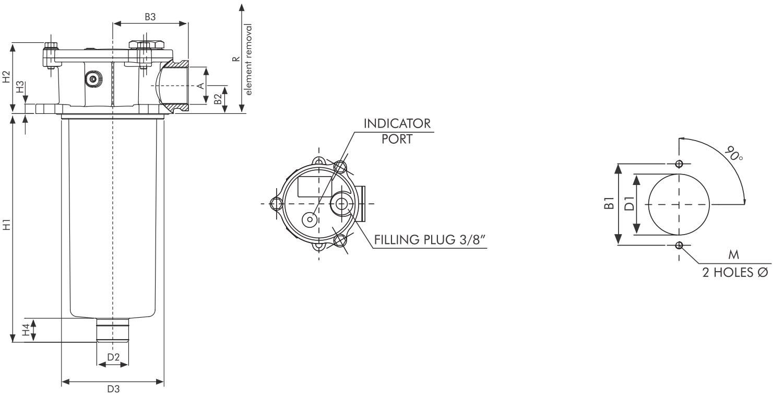 FR120G10CBB50CPDC Rücklauffilter